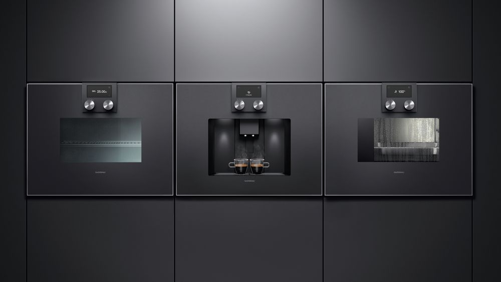 Cuptor cu microunde, espressor automat și cuptor cu abur culoare antracit Gaggenau